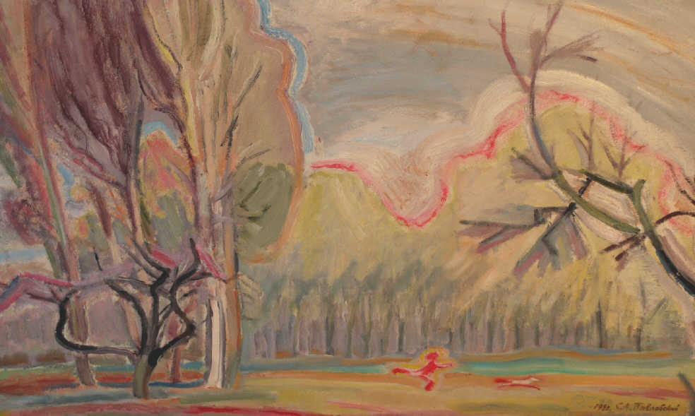 """Serafim Aleksandrovich Pavlovsky. """"Spring in the Park"""""""