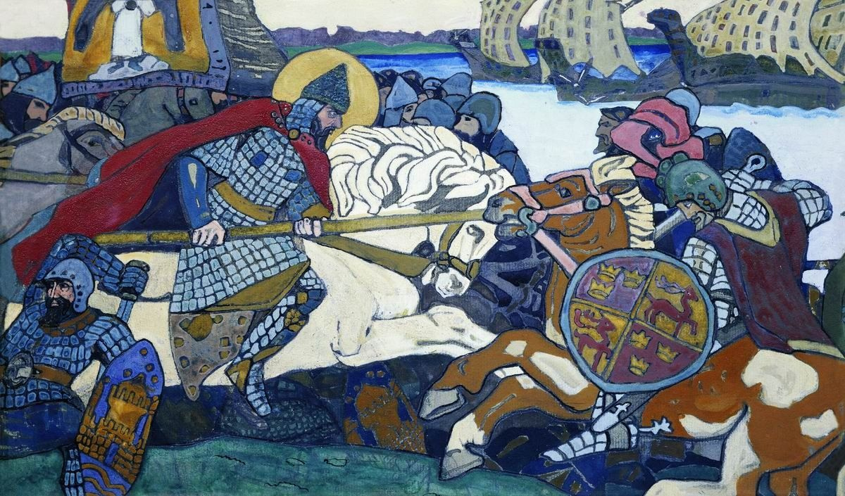 Nicholas Roerich. Alexander Nevsky strikes Birger Jarl
