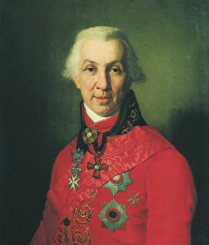 Vladimir Lukich Borovikovsky. Portrait Of G. R. Derzhavin