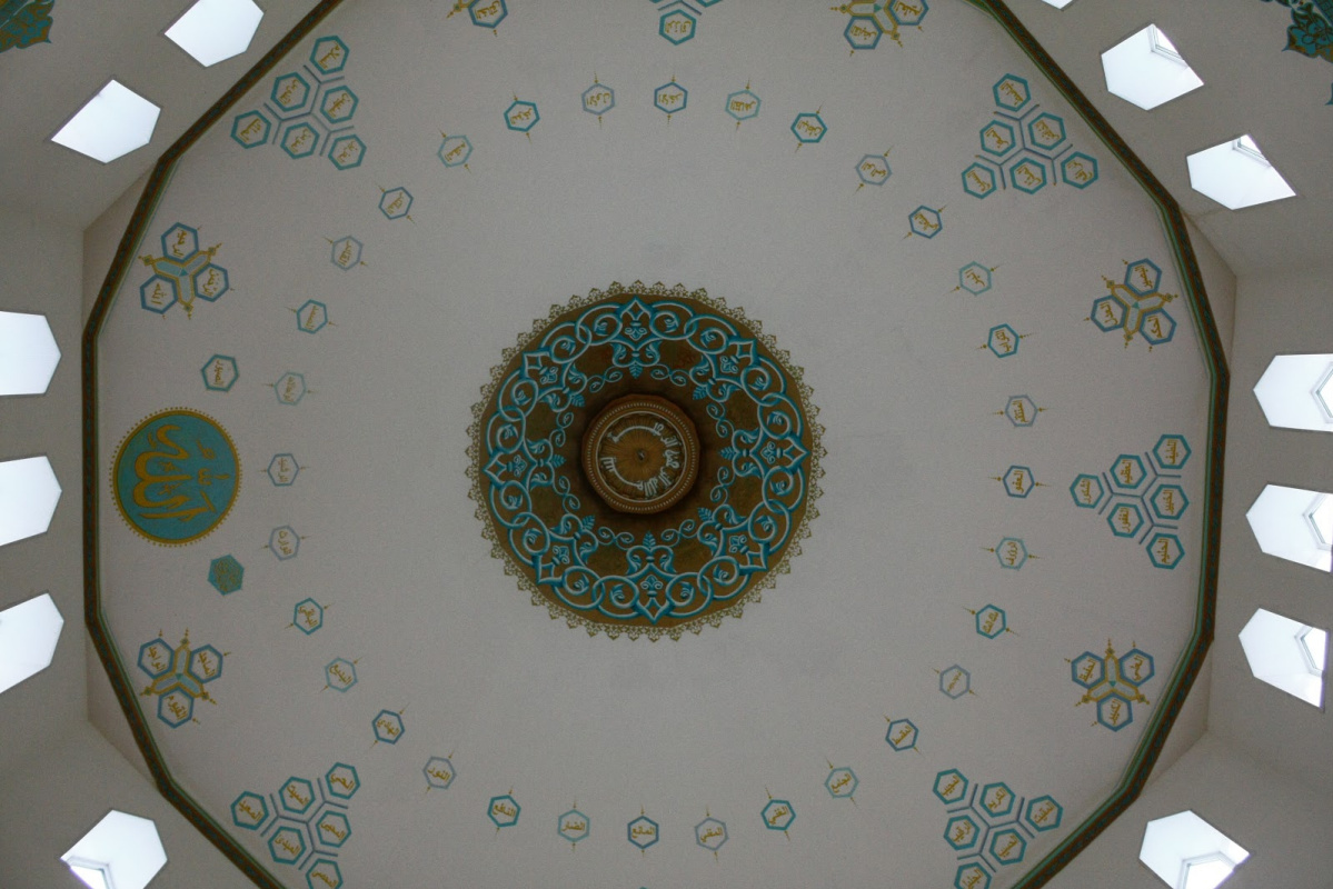 Ivan Alexandrovich Sharapov. Painting the dome of the mosque in the city of Serov / 99 names of Allah