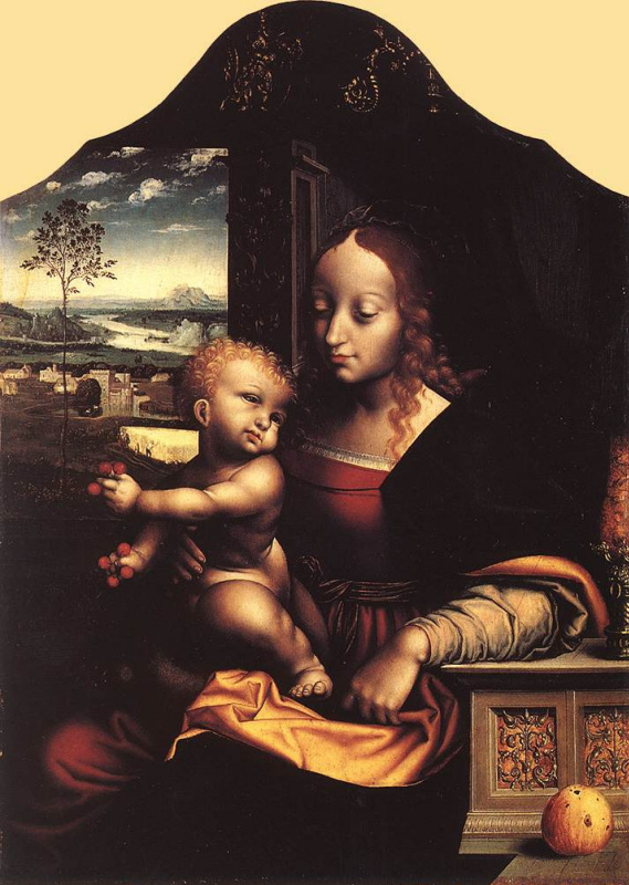 Йос ван Клеве. Дева с младенцем