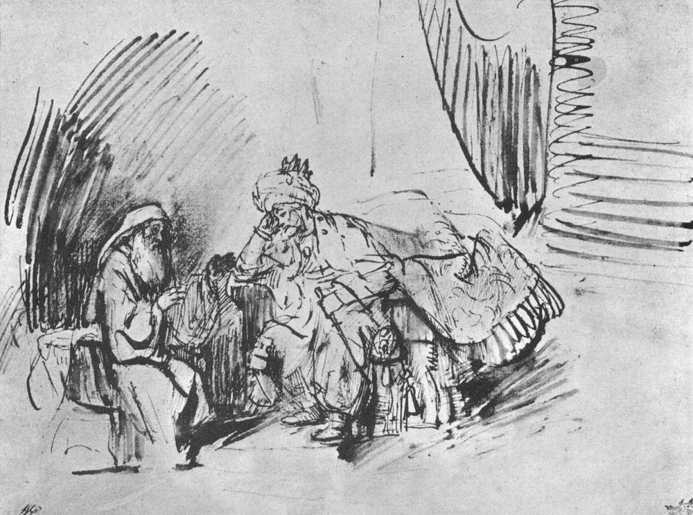 Рембрандт Ван Рейн. Господь снял с тебя грех твой