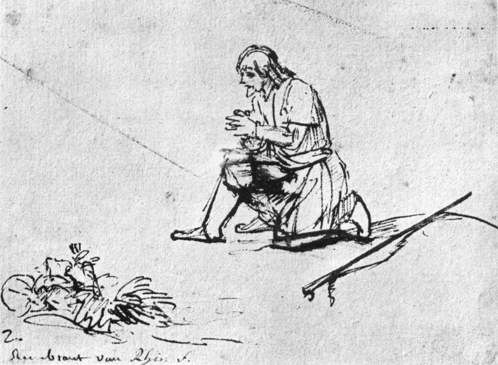Рембрандт Ван Рейн. Молитва Иакова