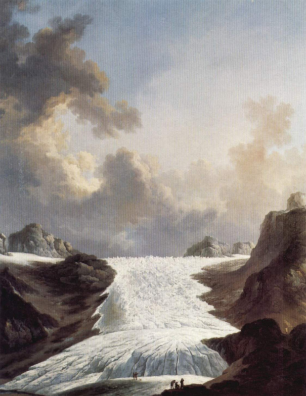 Иоханн Генрих Вюст. Ледник на Роне