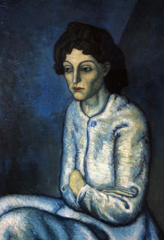 Пабло Пикассо. Женщина со скрещенными руками