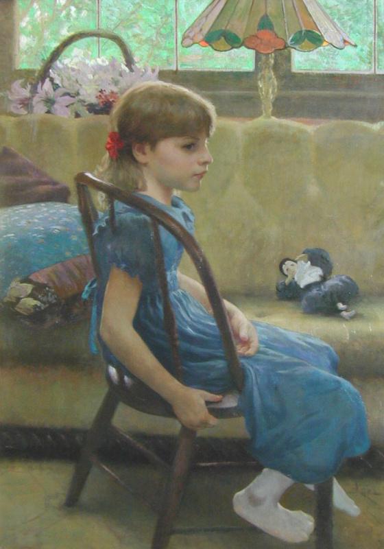 Девочка в голубом платье