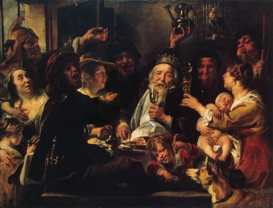 Jacob Jordaens. Bean king
