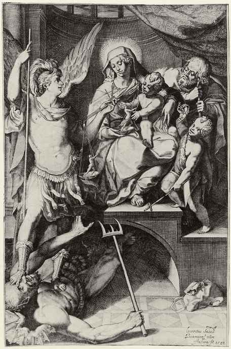 Аннибале Карраччи. Святое Семейство с Иоанном Крестителем и архангелом Михаилом