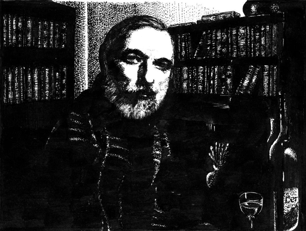 Vladimir Abaimov. Winter self-portrait