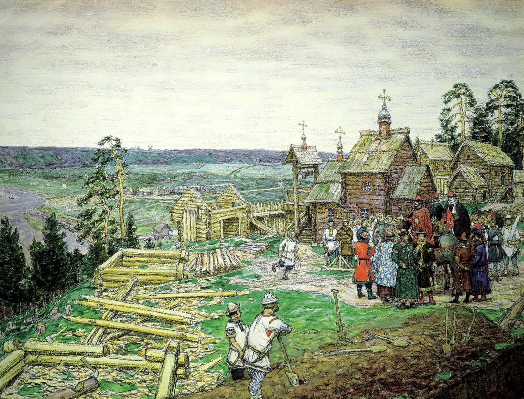 Аполлинарий Михайлович Васнецов. Основание Москвы