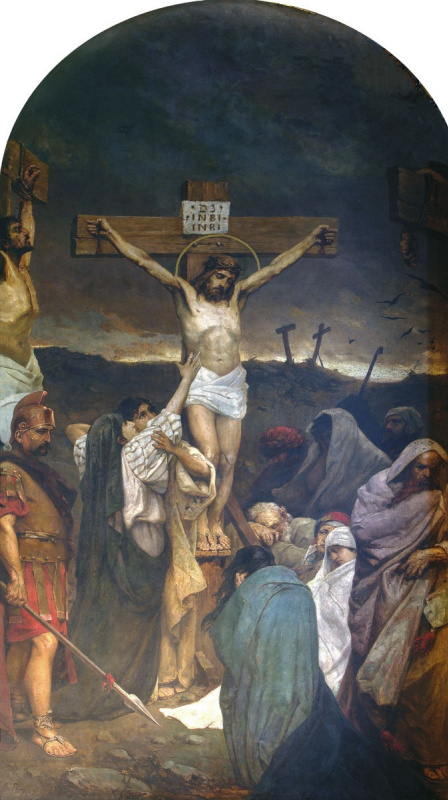 Pavel Alexandrovich Svedomsky. The crucifixion. Fragment of painting of the Vladimir Cathedral in Kiev