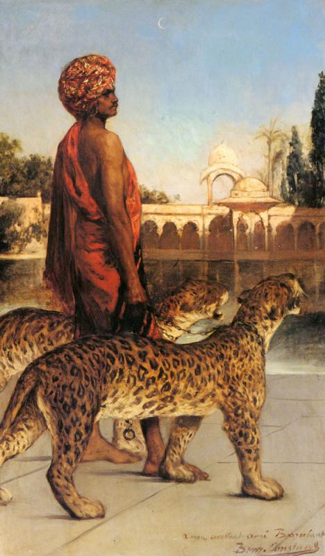 Жан-Жозеф Бенжамен-Констан. Дворец гвардии с двумя леопардами