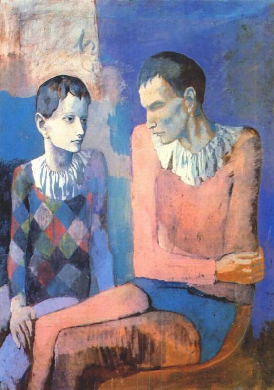 Пабло Пикассо. Акробат и молодой арлекин