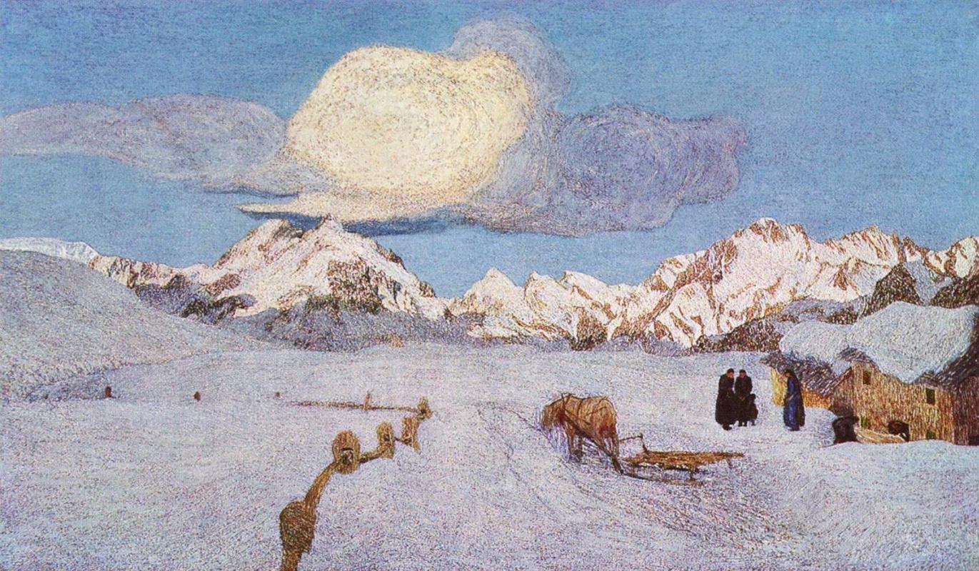 Giovanni Segantini. Alpine triptych. Death