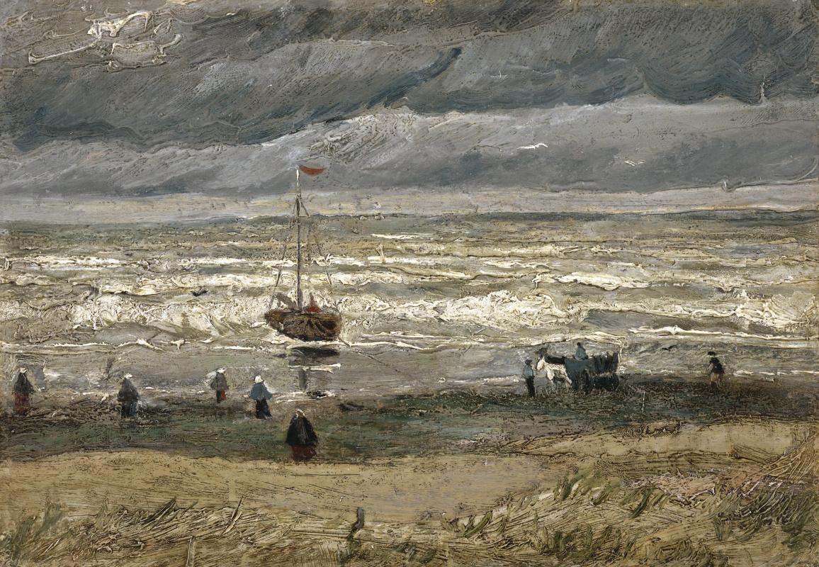 Vincent van Gogh. A view of the sea at Scheveningen