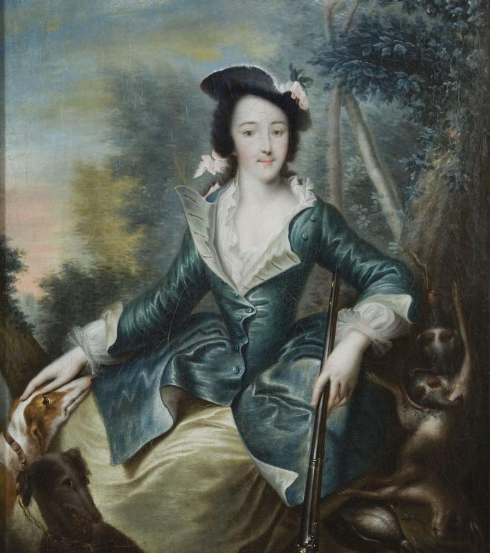 Портрет великой княгини Екатерины Алексеевны в охотничьем костюме