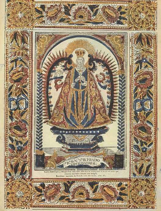 Ксилограф из печатни Эстивиль в Барселоне. Вотивный образ Девы Марии из Куидад Реаль