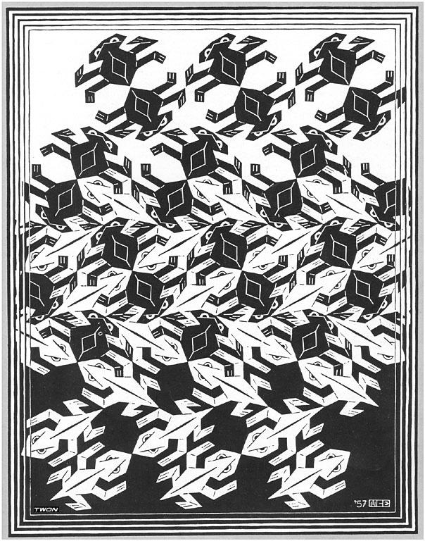 Мауриц Корнелис Эшер. Черно-белые фигуры