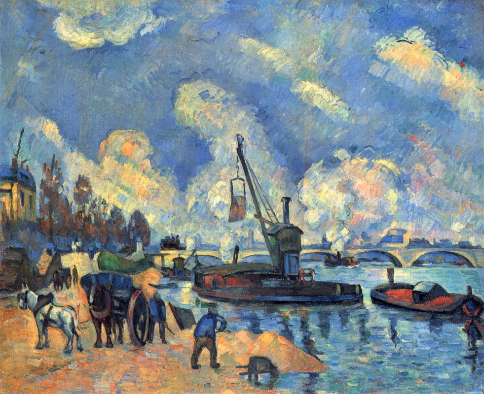 Paul Cezanne. The Seine at Bercy
