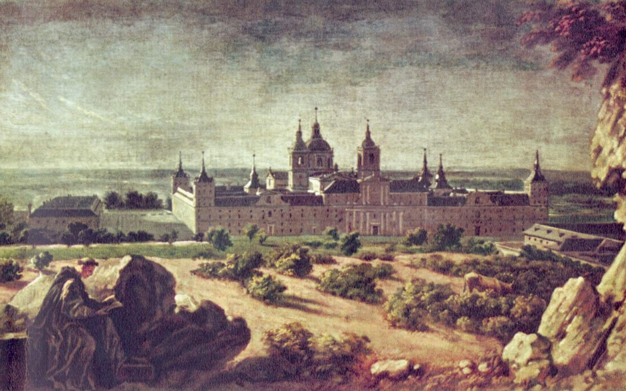 Michel-Ange Wass. View of the Escorial