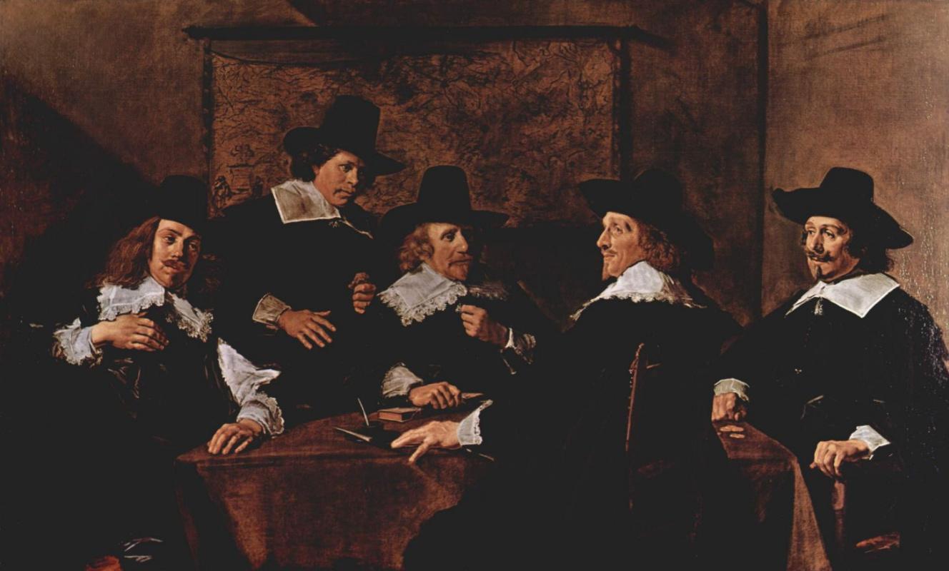 Франс Халс. Групповой портрет регентов приюта св. Елизаветы в Гарлеме