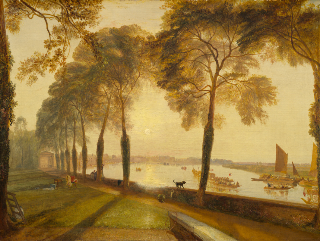 Joseph Mallord William Turner. Mortlake terrace, the estate of William Moffatt, Esquire. Summer evening