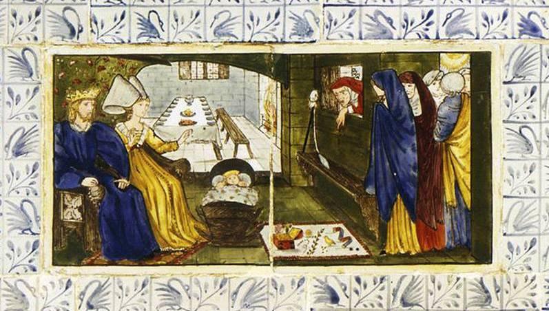William Morris. Sleeping Beauty (Together with Edward Burne-Jones). Panel 1