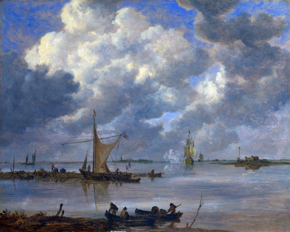 Ян ван Гойен. Устье с рыболовными судами