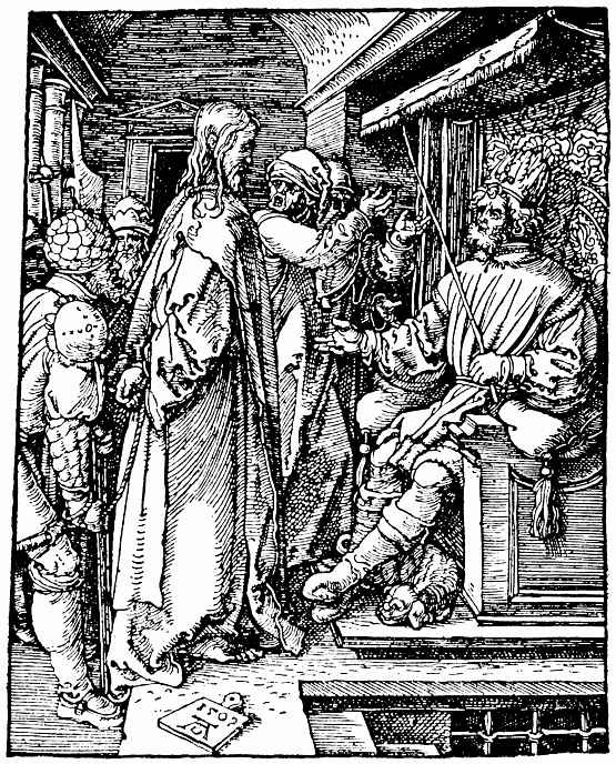 Альбрехт Дюрер. Христос перед Иродом