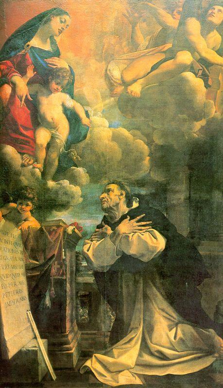 Лодовико Карраччи. Поклонение перед Девой