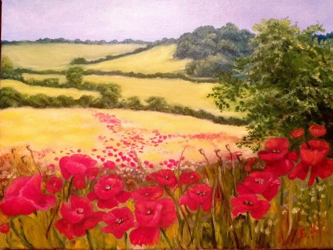 Valeria Kostromina. Landscape with poppies