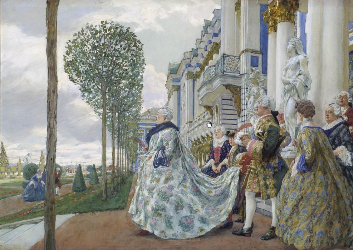Evgeniy Evgenievich Lansere. Empress Elizaveta Petrovna in Tsarskoe Selo