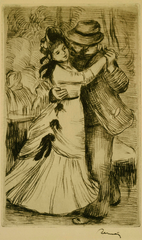 Pierre-Auguste Renoir. The dance in the village