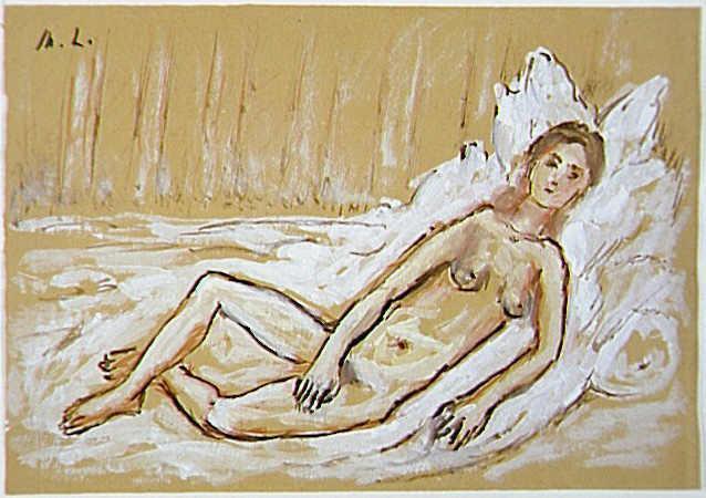 Mikhail Larionov. Reclining Nude