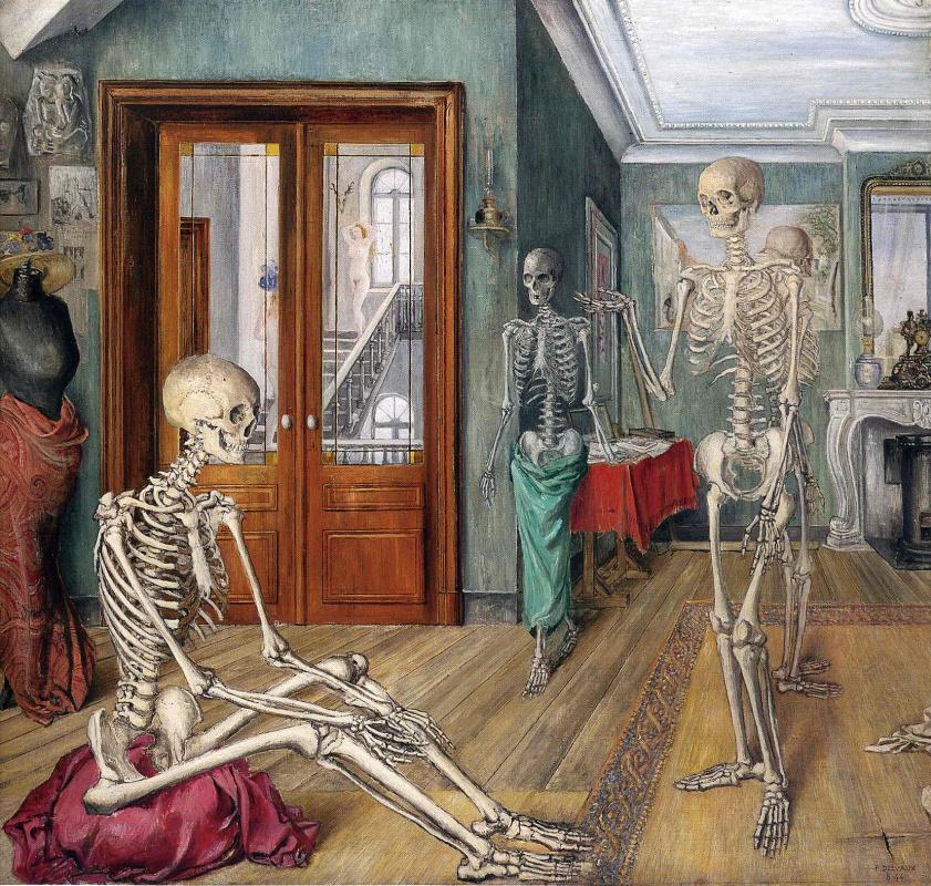 Поль Дельво. Скелеты в комнате