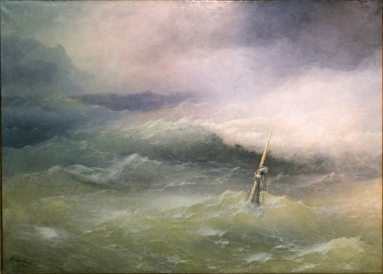 Ivan Aivazovsky. Storm on the sea of Azov in April 1886