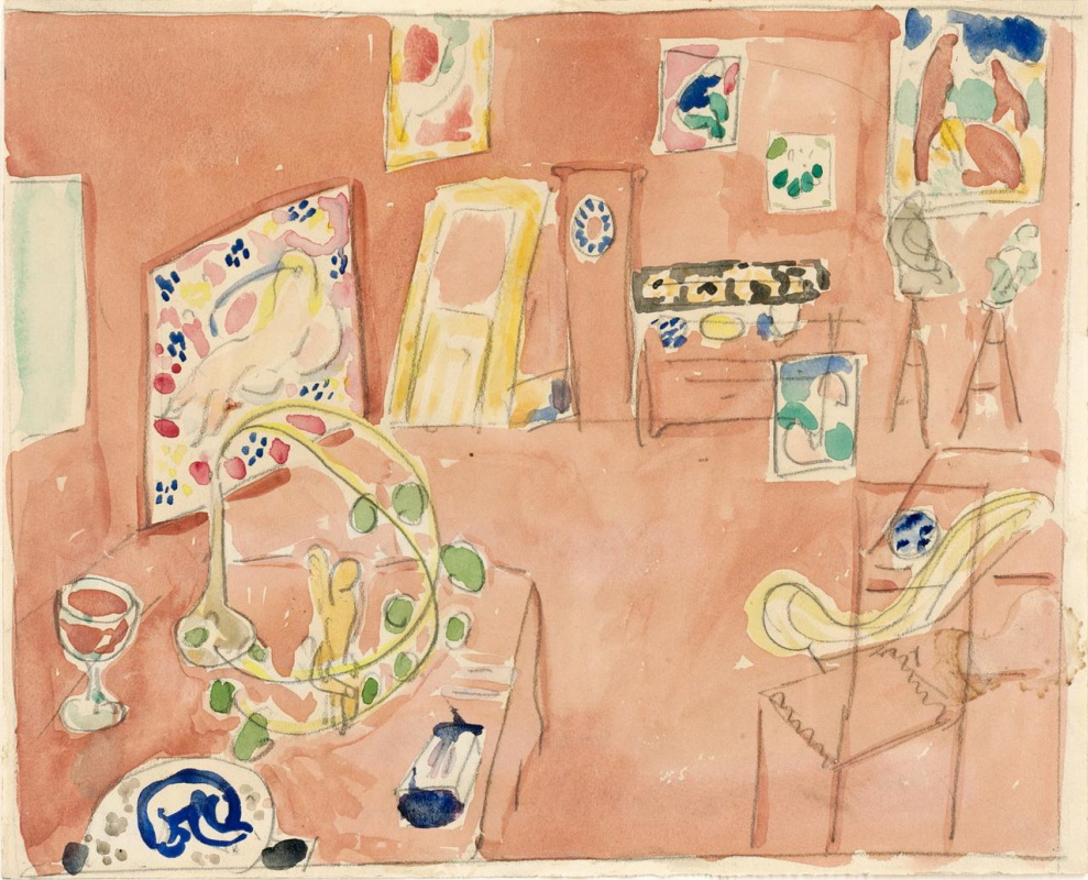 """Henri Matisse. Study for the painting """"Artist's Workshop"""""""
