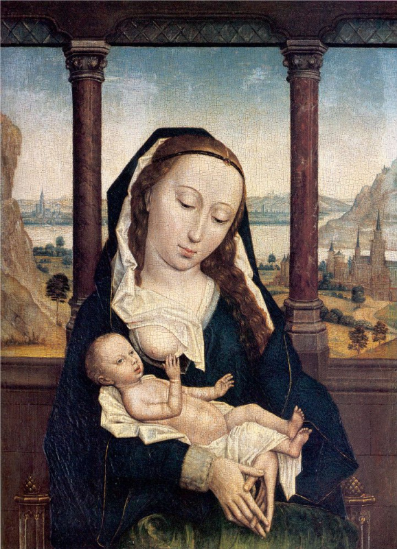 Simon Marmion. Mary with child