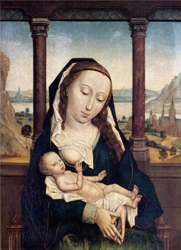 Симон Мармион. Мария с младенцем