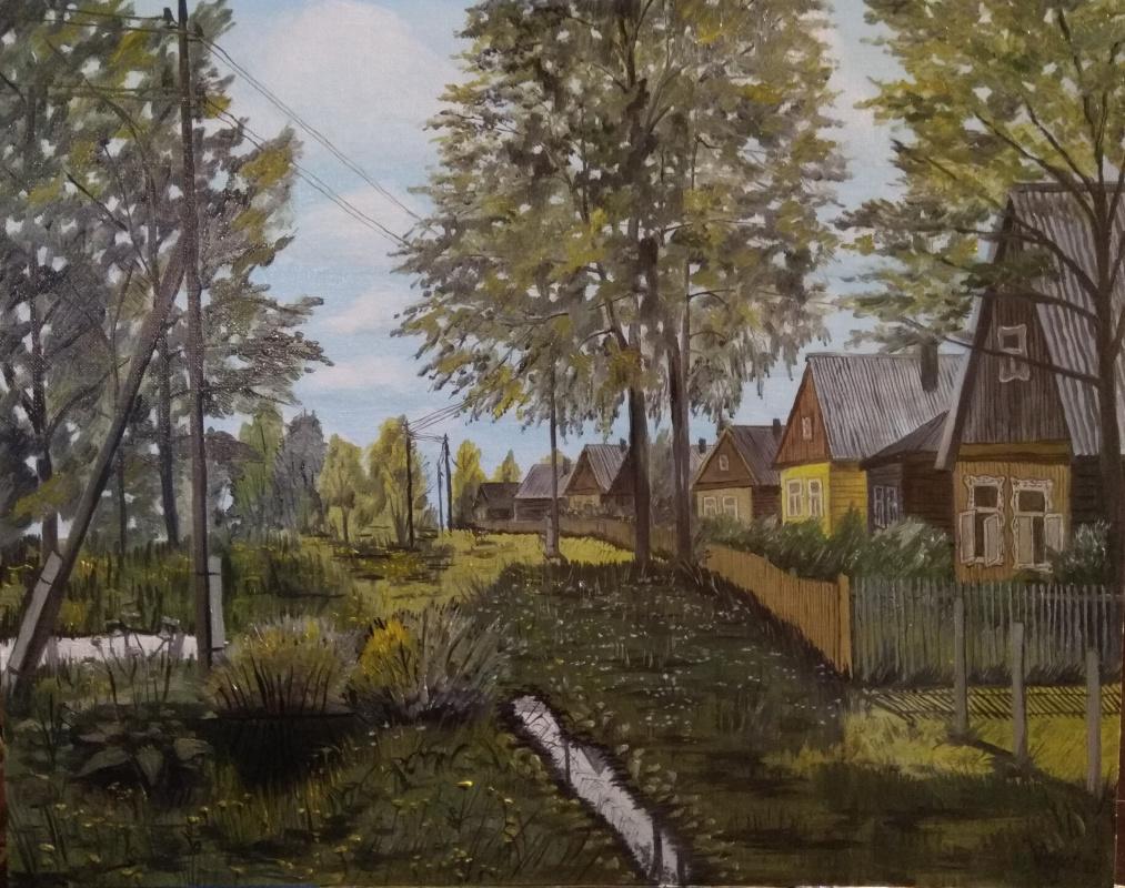Vladimir Adamovich Ropot. Russian village