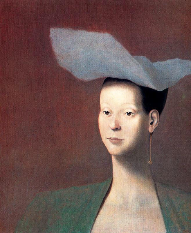 Хосе Мануэль Гомес. Портрет дамы в шляпке