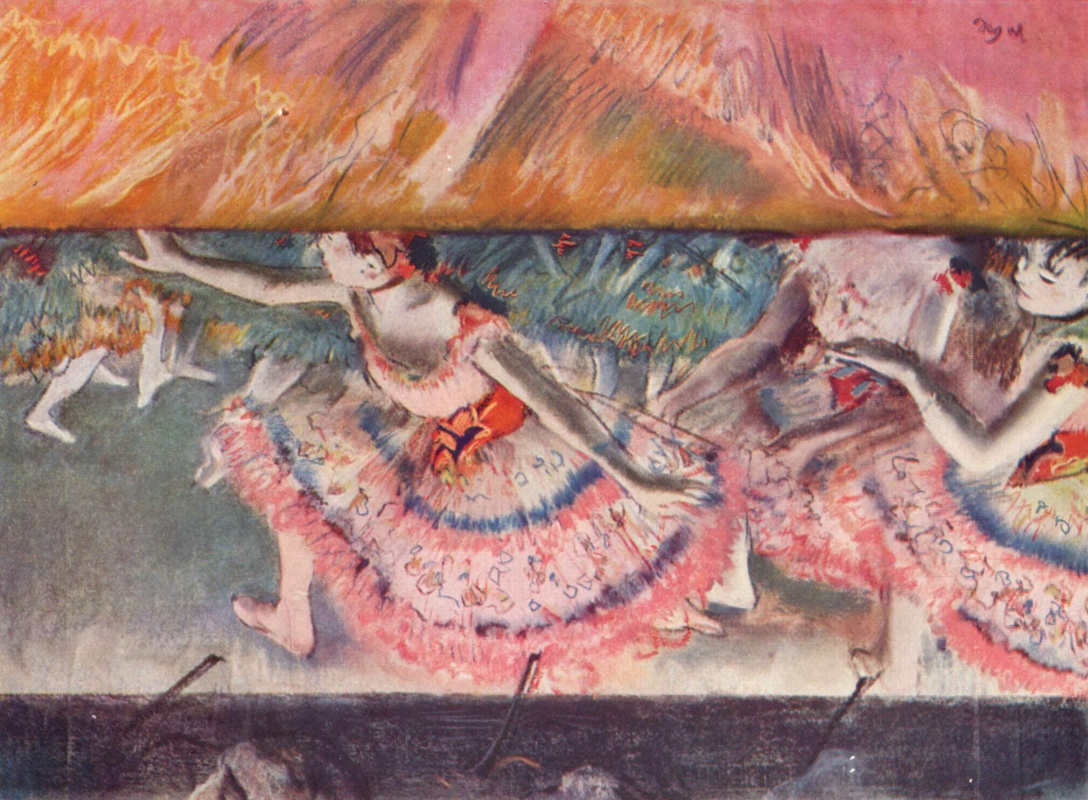 Edgar Degas. The descending curtain