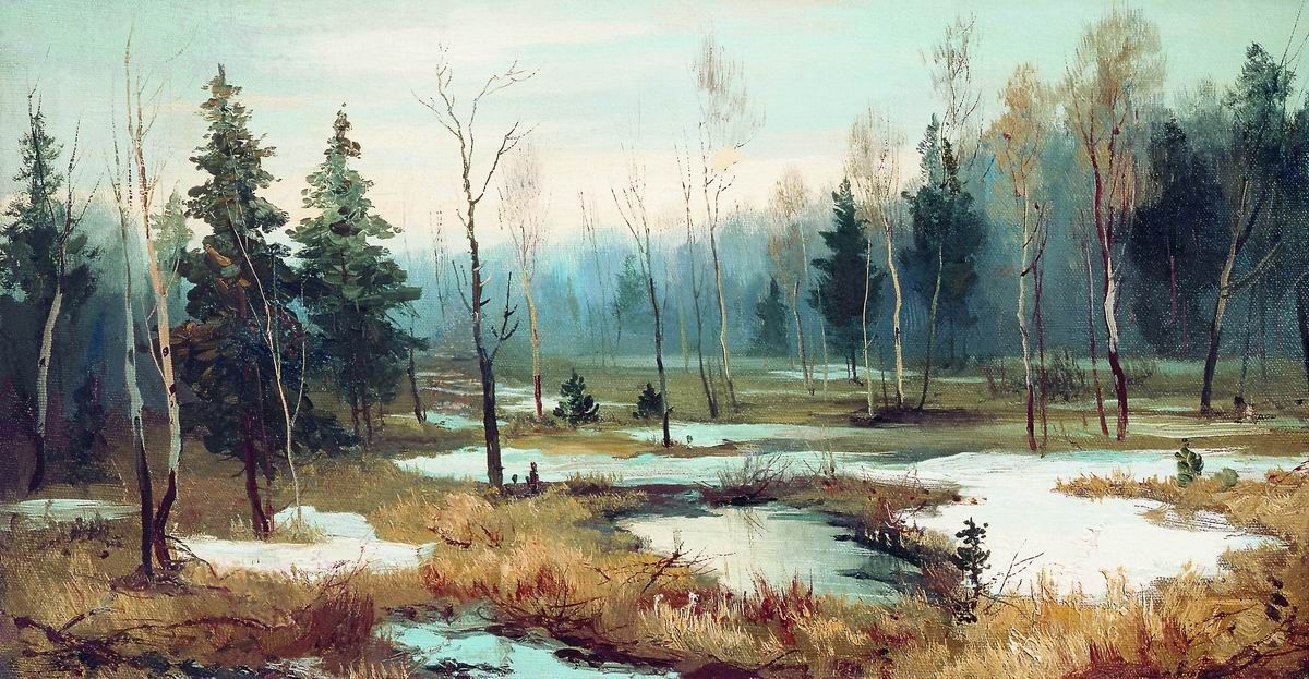 Efim Efimovich Volkov. At the end of winter