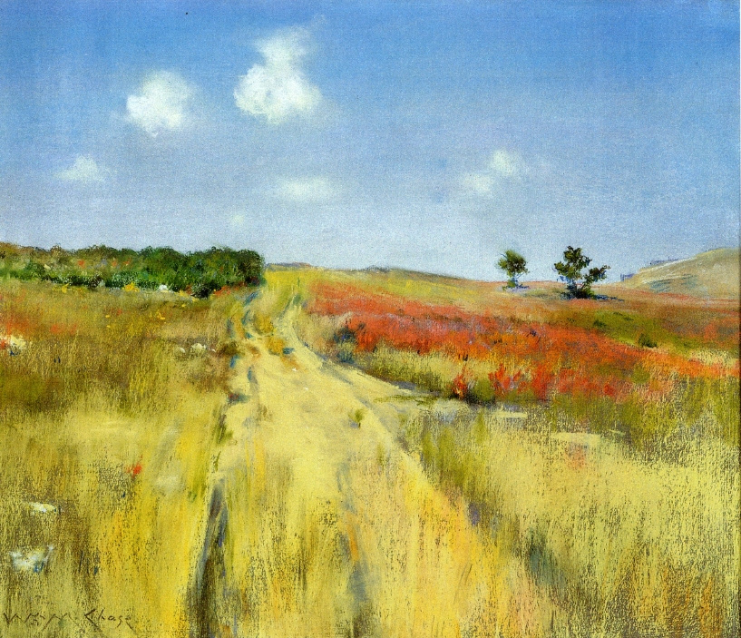 William Merritt Chase. The road to the hills Shinnecock