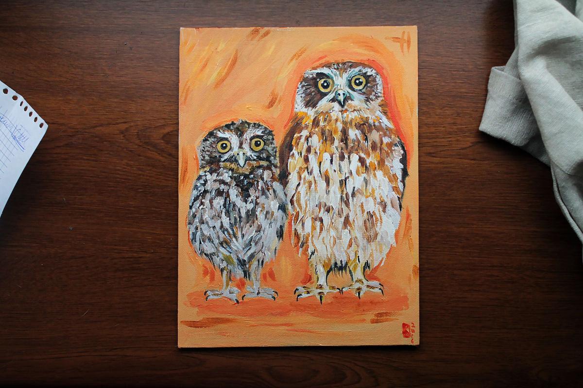 Karima Nailevna Smirnova. Owls