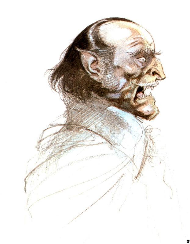 Frank Frazetta. The study of Dracula