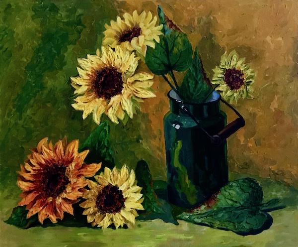 Larissa Lukaneva. Sunflowers