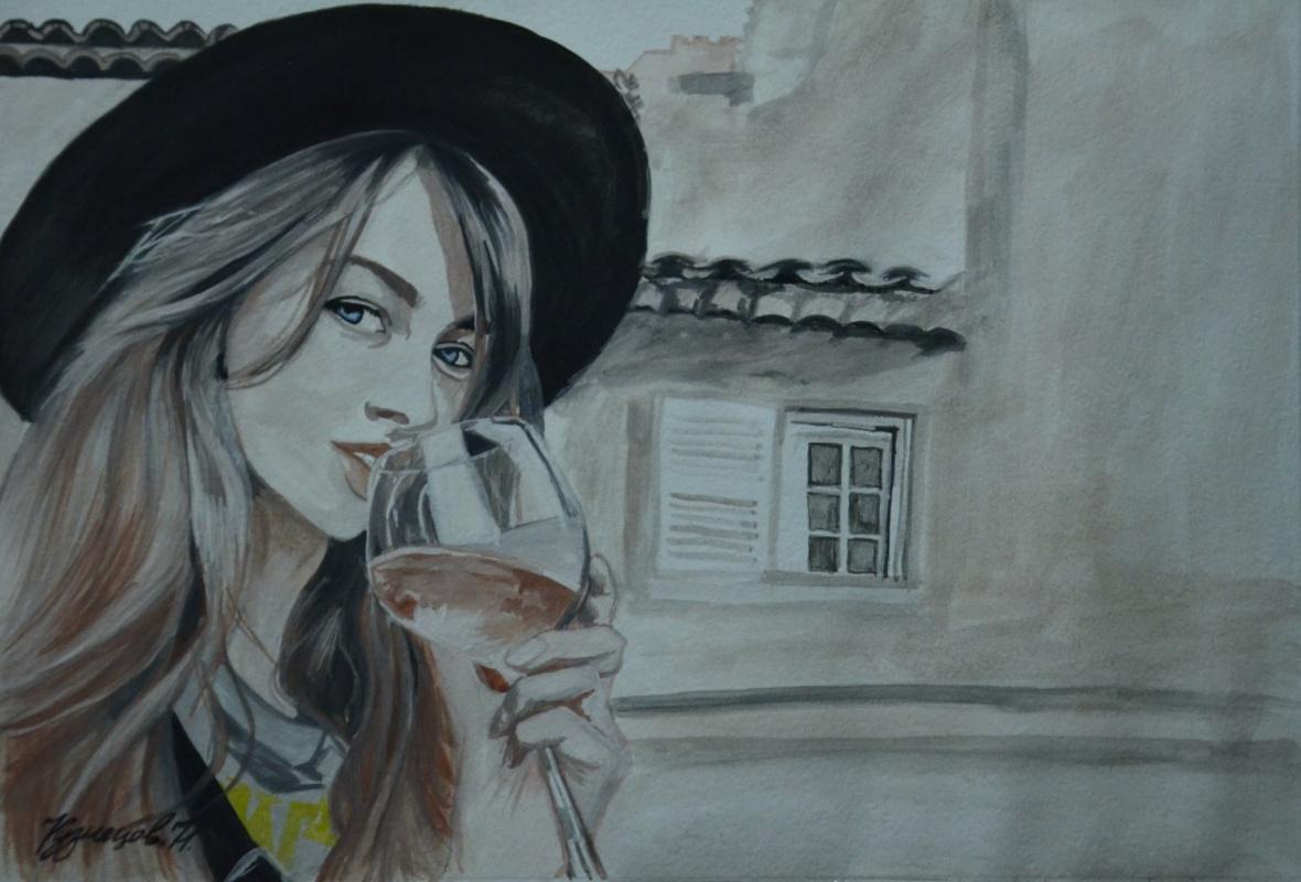 Kuznetsov. N.. Girl with a glass