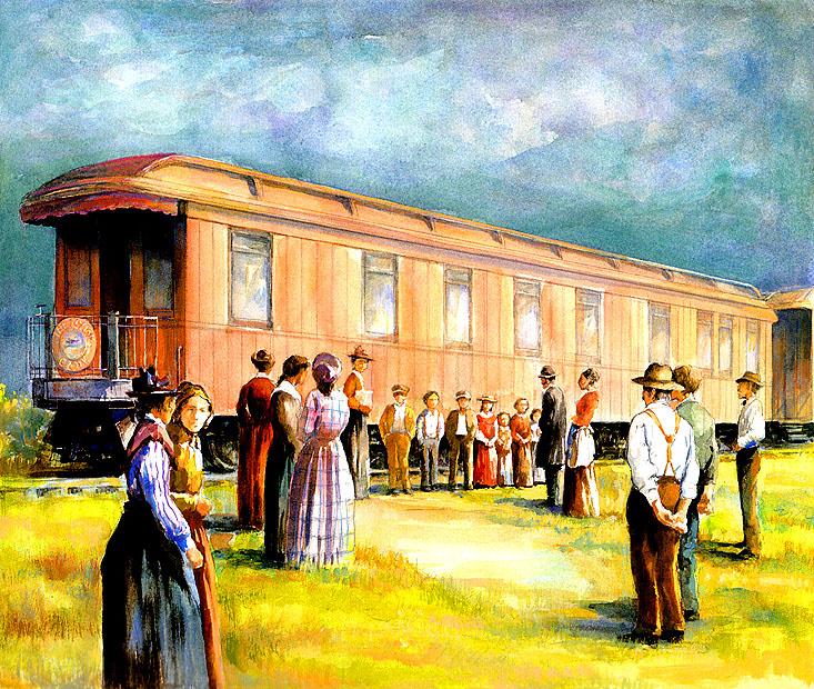 Ronald Himler. Train