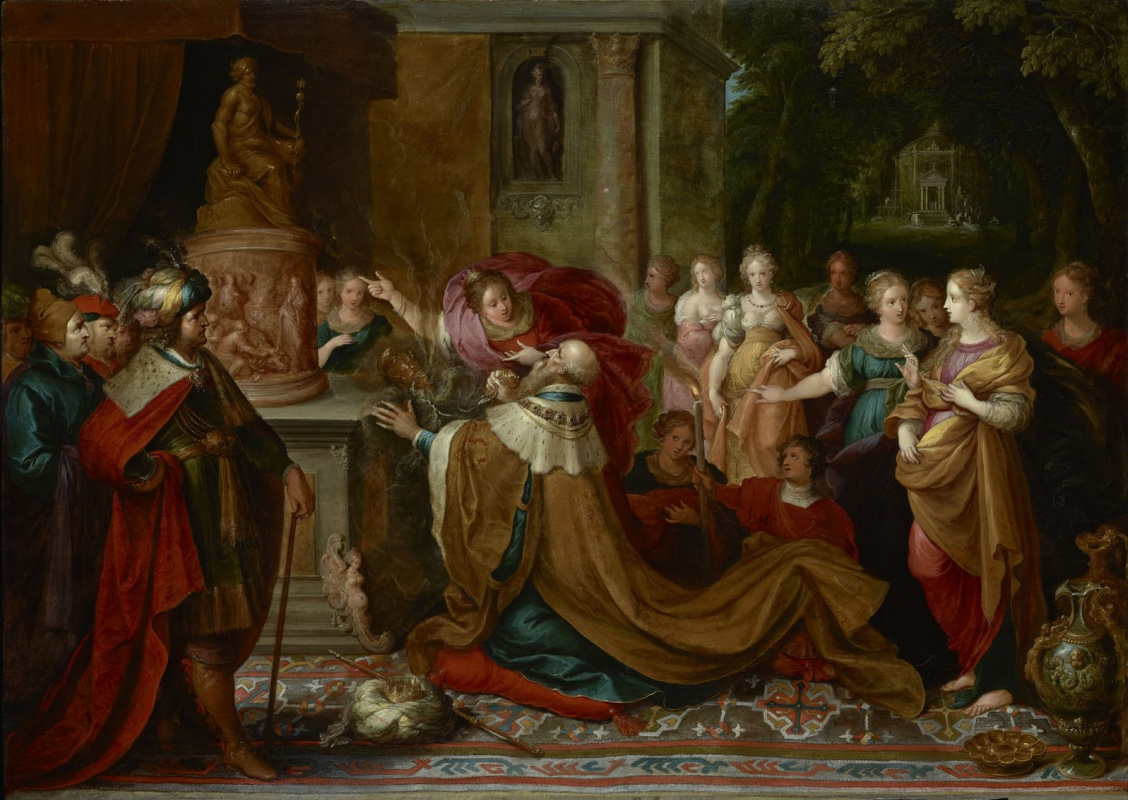 Франс Франкен Младший. Идолопоклонство царя Соломона. 1622